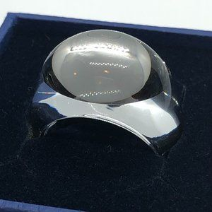 Baccarat Clear Crystal Art Glass Tango Mirror Ring